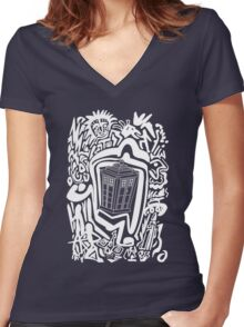 Mysterious Journey Women's Fitted V-Neck T-Shirt