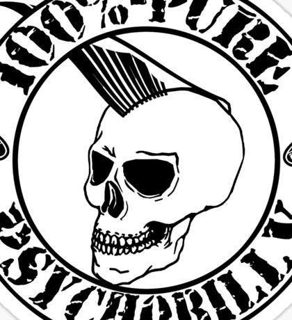 Pure Psychobilly - Black Stamp Sticker