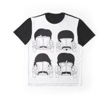 The Beatles -Black Graphic T-Shirt