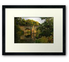Teston Bridge Framed Print