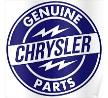 Chrysler Original Parts vintage sign. Flat version Poster