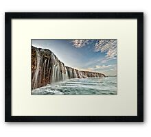 The Waterfall Reef  Framed Print