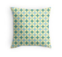 Abstract mesh pattern Throw Pillow