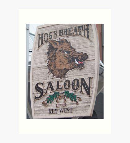 Hog's Breath Saloon-Key West Florida Art Print