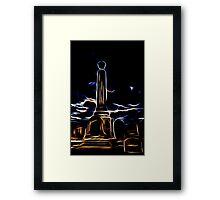 Glowing Monolith Framed Print