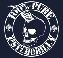 Pure Psychobilly - White Stamp Kids Tee