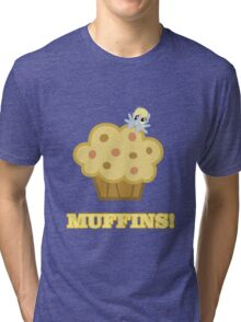 Derpy (Ditzy Doo) - Muffins! - (My Little Pony Friendship is Magic) Tri-blend T-Shirt