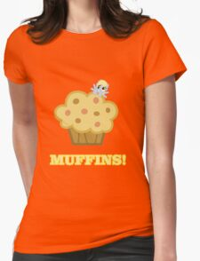 Derpy (Ditzy Doo) - Muffins! - (My Little Pony Friendship is Magic) Womens Fitted T-Shirt