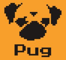 8 Bit Pixel Pug by chrisbarton303