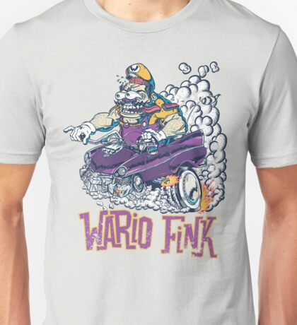 Wario Fink w/Text Unisex T-Shirt