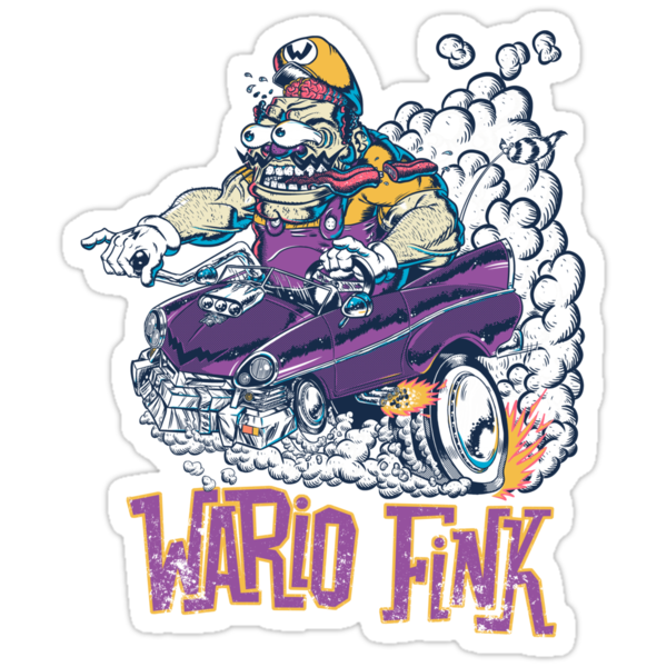 Wario Fink w/Text by Ramsey Sibaja