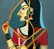 Bani Thani (Rajput painting) by Sowmya Kapula