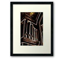 Golden Pipes Framed Print