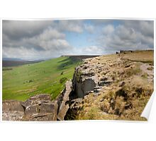 View along Stanage Edge Poster