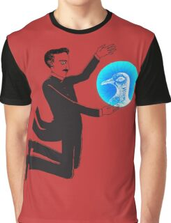 Tesla and the Pigeon Graphic T-Shirt