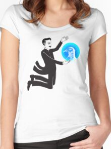 Tesla and the Pigeon Women's Fitted Scoop T-Shirt