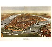 Panoramic Maps The city of New York Photographic Print