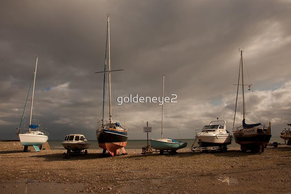 Boats on a beach by goldeneye2