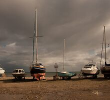 Boats on a beach by goldeneye2