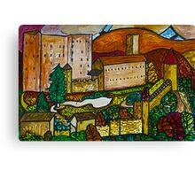 Bella astratto Castello di Pergine, Italia Canvas Print