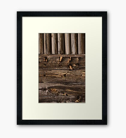 Weathered Wooden Abstracts – Four – Vertical Framed Print