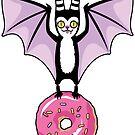 Pastel Bat with Pink Donut by blacklilypie