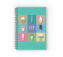 Ice-creams and popsicles Spiral Notebook