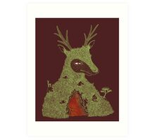 Stag at the Heart of the Mountain Art Print