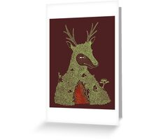 Stag at the Heart of the Mountain Greeting Card
