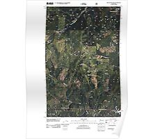 USGS Topo Map Washington State WA Boyer Mountain 20110512 TM Poster