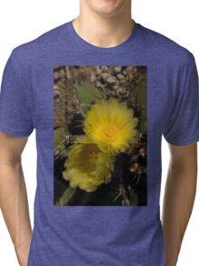 Gossamer Petals - Twin Cactus Blooms Tri-blend T-Shirt