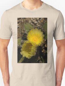 Gossamer Petals - Twin Cactus Blooms Unisex T-Shirt