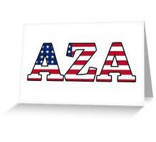 AZA America Greeting Card