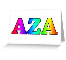 AZA Rainbow Greeting Card
