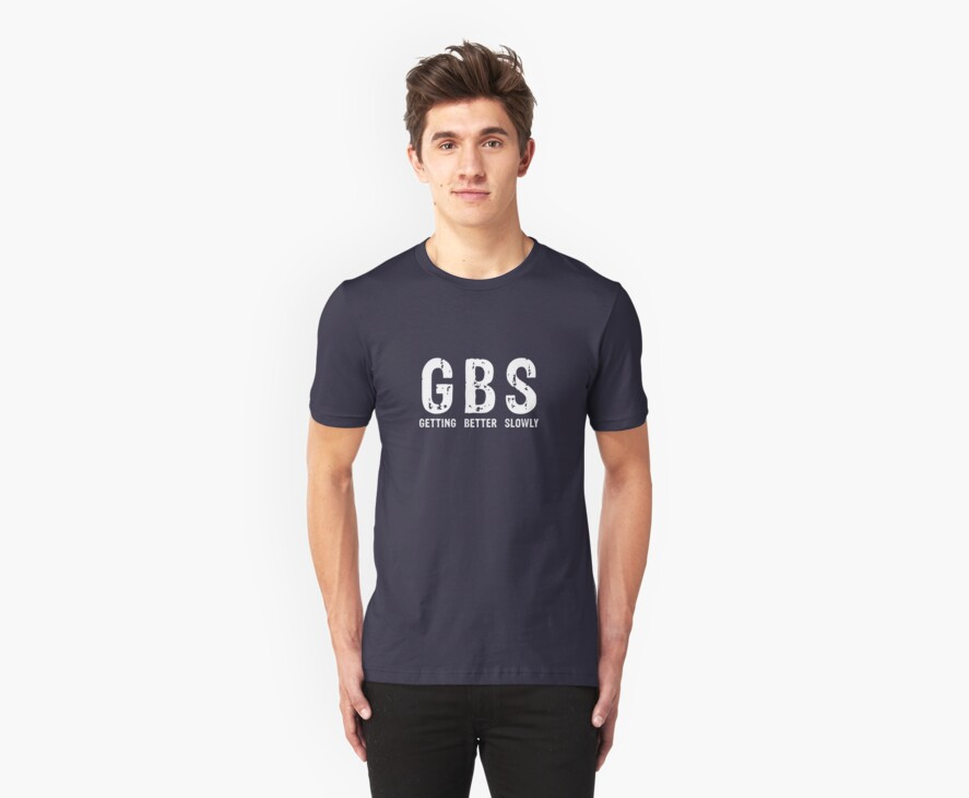 GBS Tee in White by turnerstokens