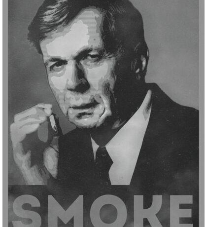Smoke! Funny Obama Hope Parody (Smoking Man)  Sticker