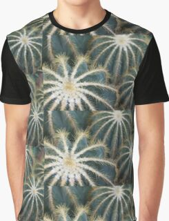 Sharp Beauty - Elegantly Ordered Cactus Needles Graphic T-Shirt