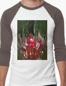 Lucciole in a tulip garden Men's Baseball ¾ T-Shirt