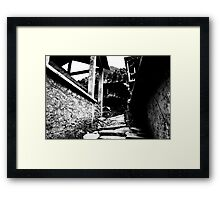 Few more steps. Framed Print