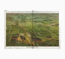 Panoramic Maps Depew NY One Piece - Short Sleeve