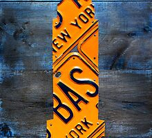 Empire State Building License Plate Art NYC USA by designturnpike