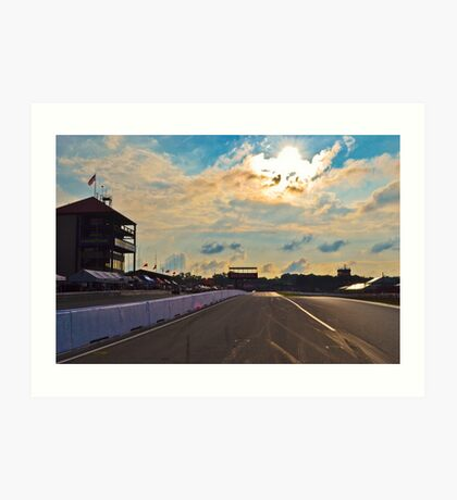 Mid Ohio Race Track Art Print