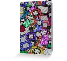 Handheld Console Pattern 02 Greeting Card
