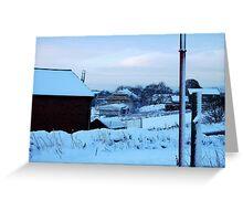 Building Snowy Dreams! Greeting Card