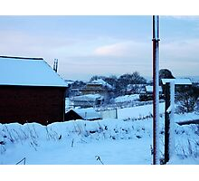 Building Snowy Dreams! Photographic Print