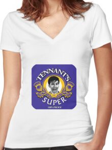Tennant's Super! Women's Fitted V-Neck T-Shirt