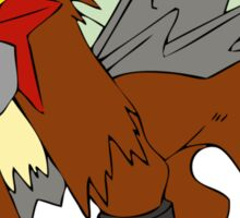Entei Pokemon Sticker