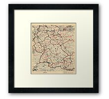 June 8 1945 World War II Twelfth Army Group Situation Map Framed Print