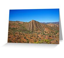 Flinders Ranges Cone Hill Greeting Card