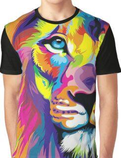 Colorful Lion Graphic T-Shirt